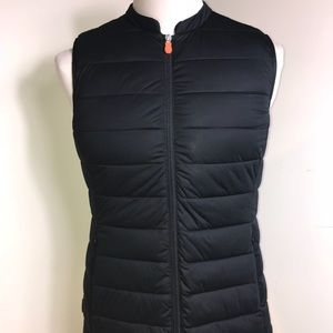 Save The Duck Women Small Black Vest Jacket Puffer